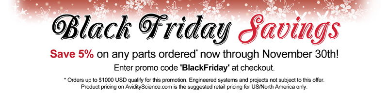 Black Friday Sale at Avidity Science