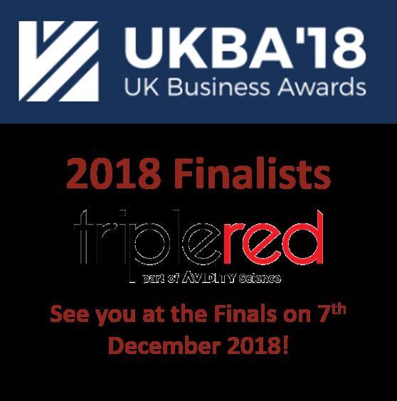 UKBA Uk Business Award Triple Red finalists