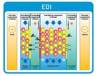 Electrodeionisation Diagram